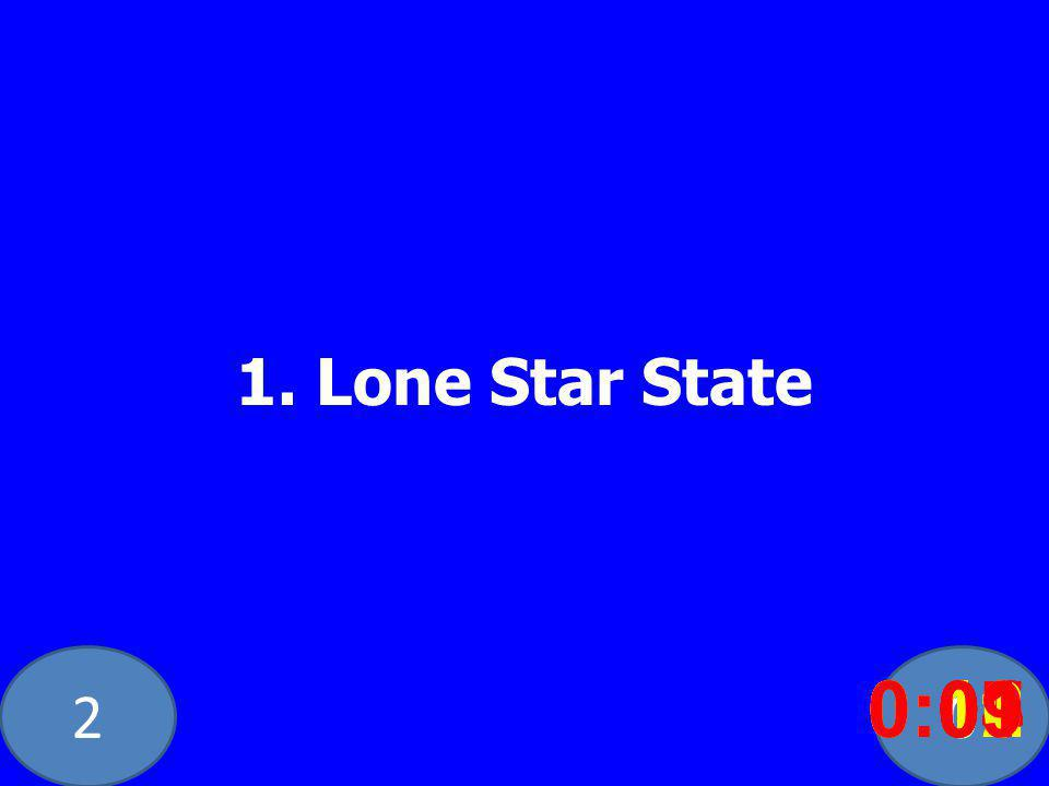 20 1. Lone Star State 0:020:030:040:050:060:070:080:100:110:120:090:01