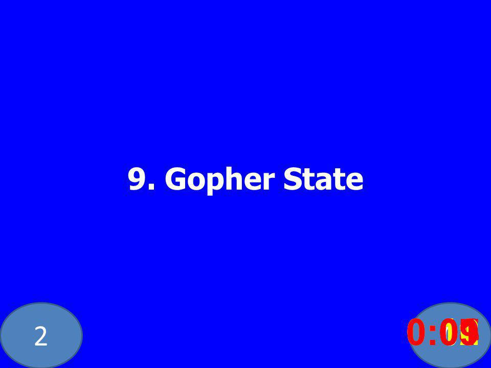 20 9. Gopher State 0:020:030:040:050:060:070:080:100:110:120:090:01
