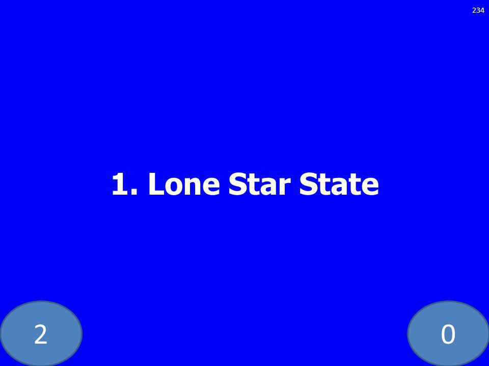 20 1. Lone Star State 234