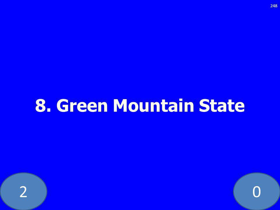 20 8. Green Mountain State 248