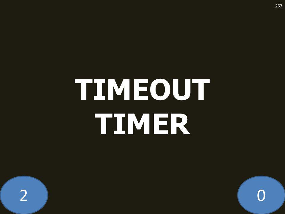 20 TIMEOUT TIMER 257