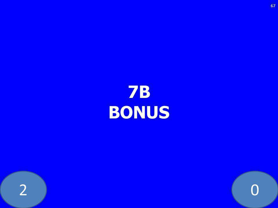 20 7B BONUS 67