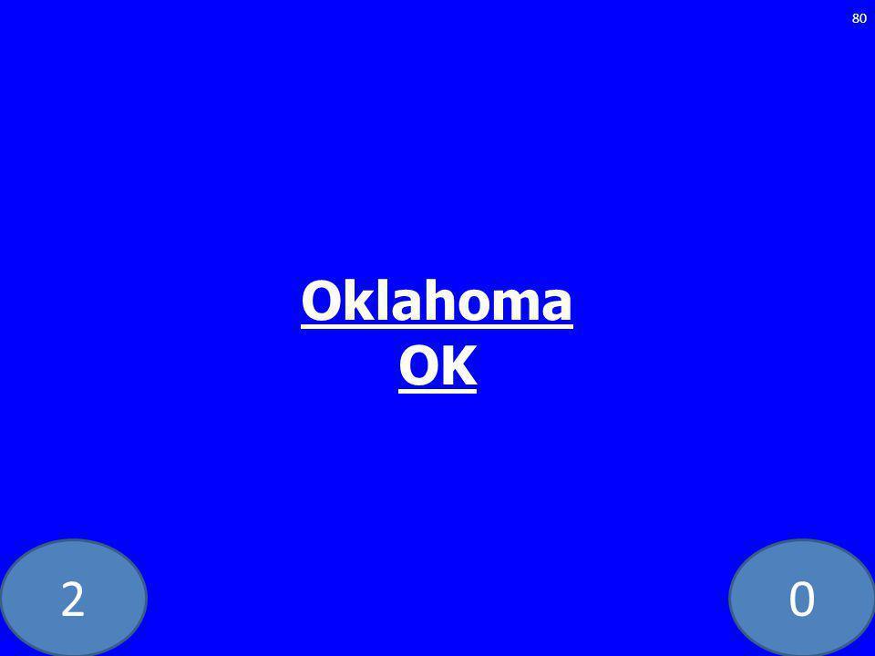 20 Oklahoma OK 80