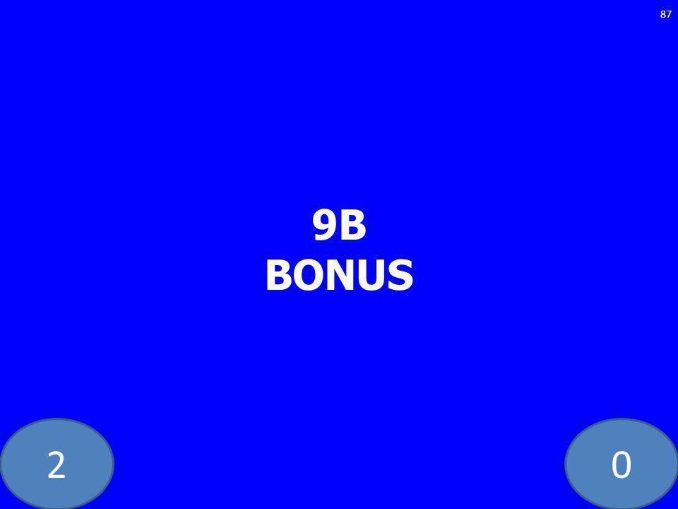20 9B BONUS 87