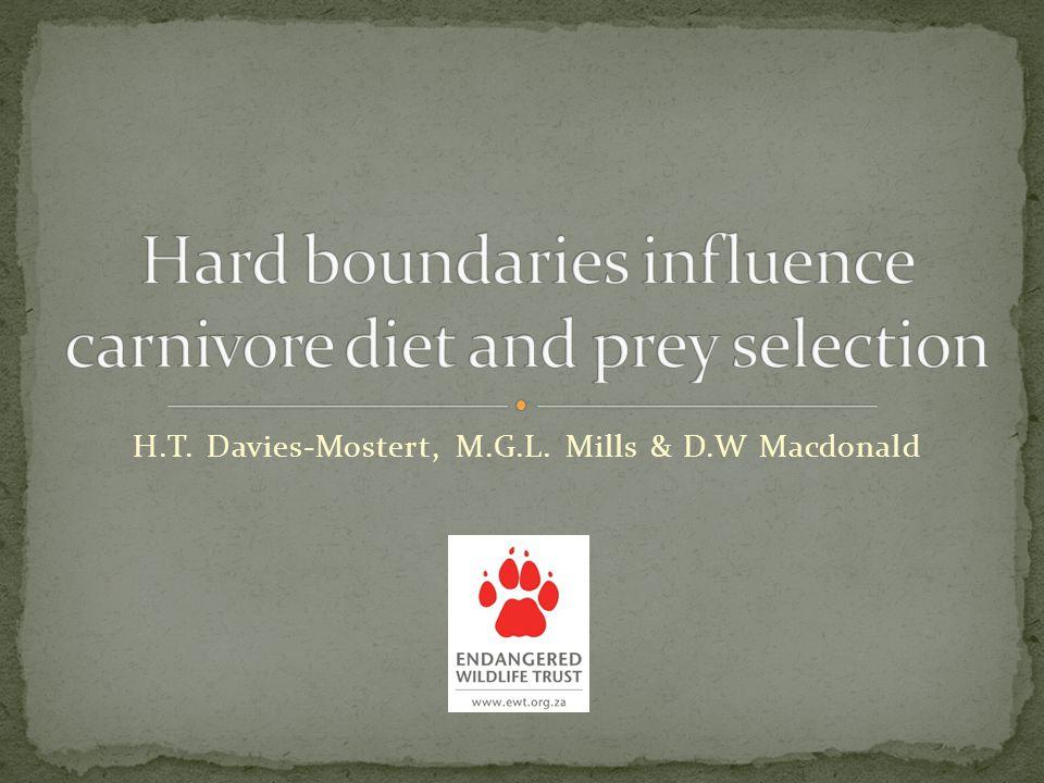 H.T. Davies-Mostert, M.G.L. Mills & D.W Macdonald