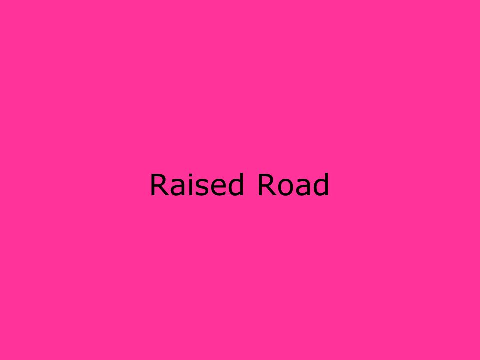 Raised Road