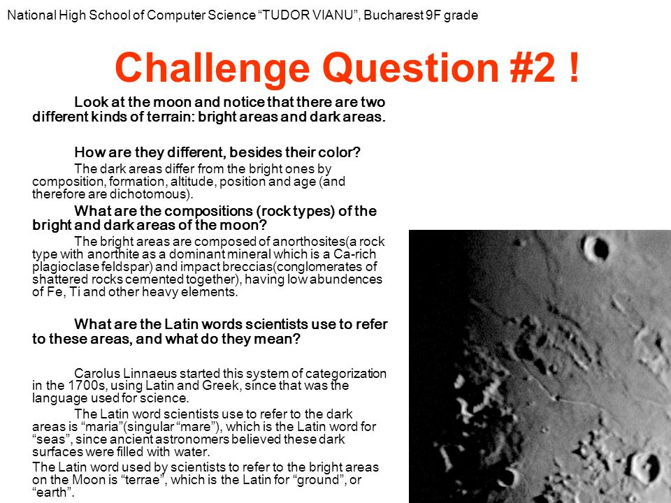 How old are the oldest rocks found on the moon.