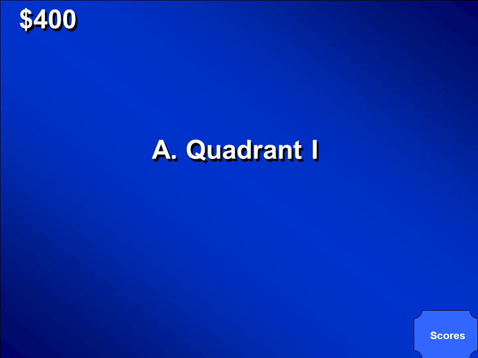 © Mark E. Damon - All Rights Reserved $400 If f(x) is an even function and point C(-2,9) is a point on the function, which quadrant would another poin