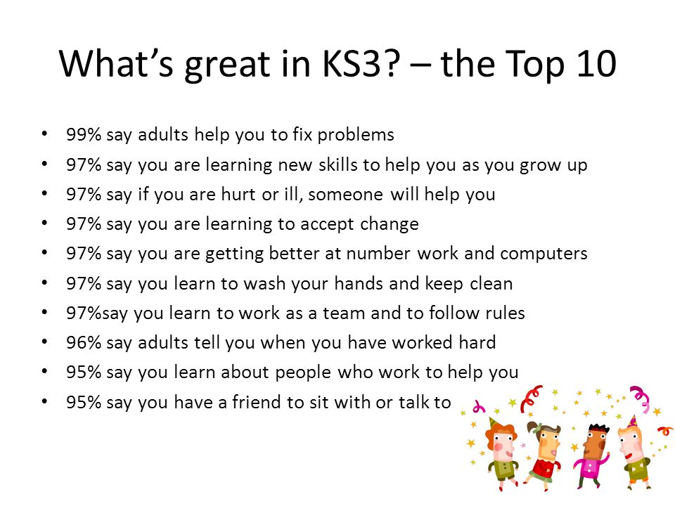 Whats great in KS3.
