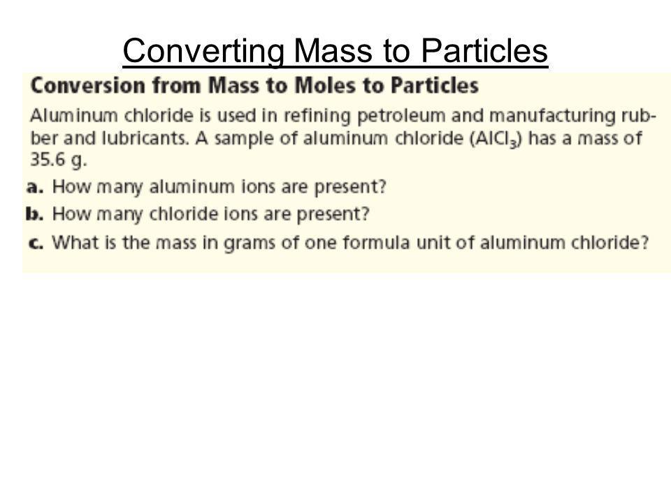 Converting Mass to Particles