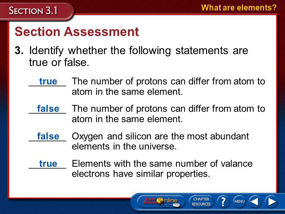 Section Assessment 2.What arrangement of electrons would you expect to find in an iron (Fe) atom.