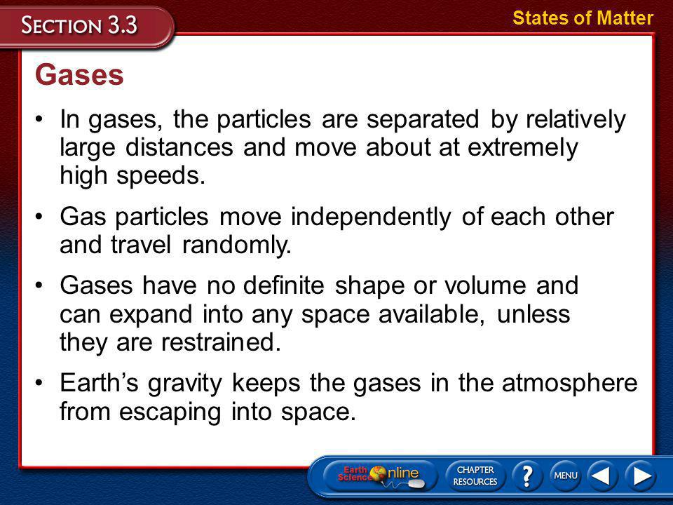 Gases Individual particles in a liquid may gain sufficient energy to escape the liquid.