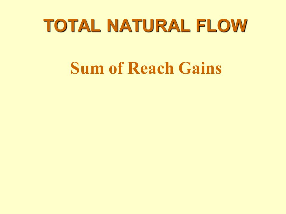 TOTAL NATURAL FLOW Sum of Reach Gains