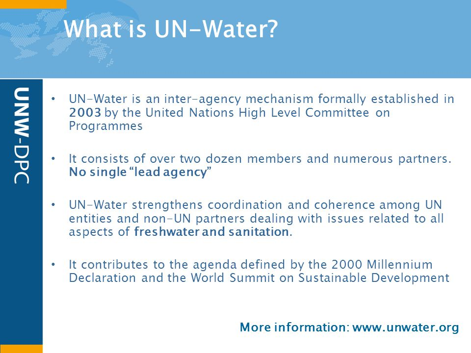What is UN-Water.