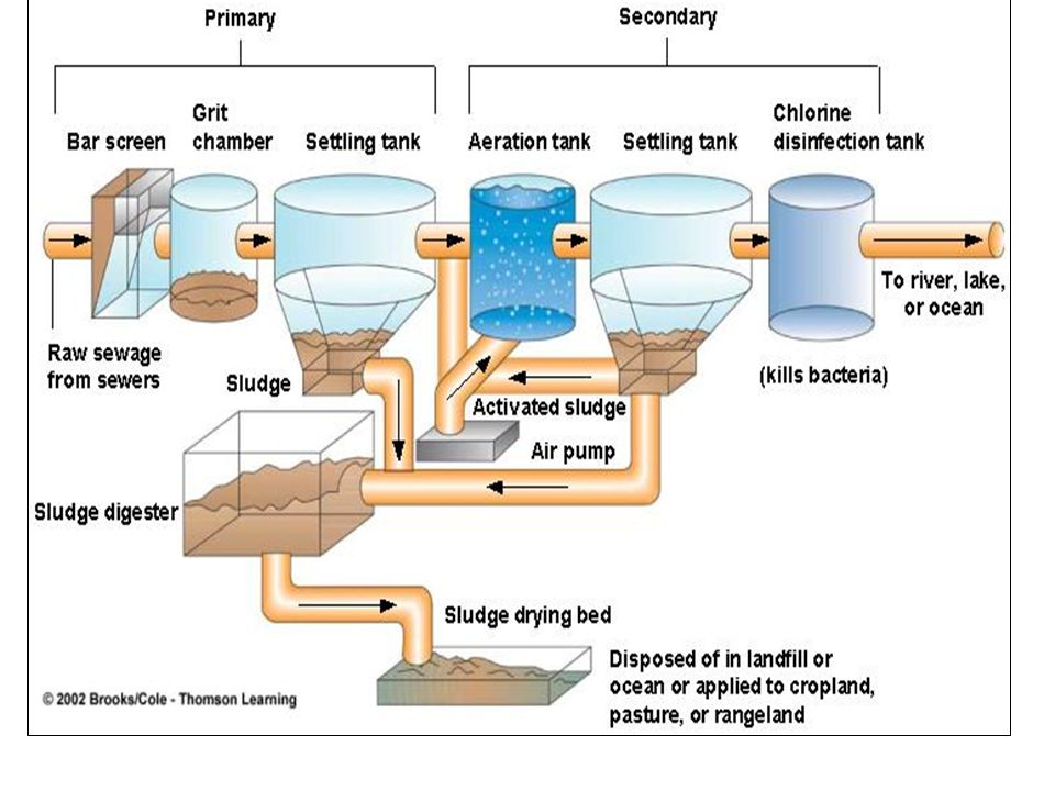 Water Treatment Screening - Clean water passes through the screen and large objects do not pass Sedimentation - Aluminium Sulphate is added.