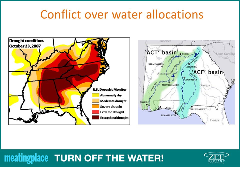 Conflict over water allocations