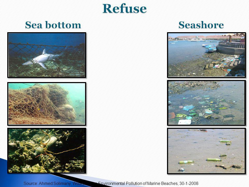Source: Ahmed Solimany: Workshop on Environmental Pollution of Marine Beaches, 30-1-2008