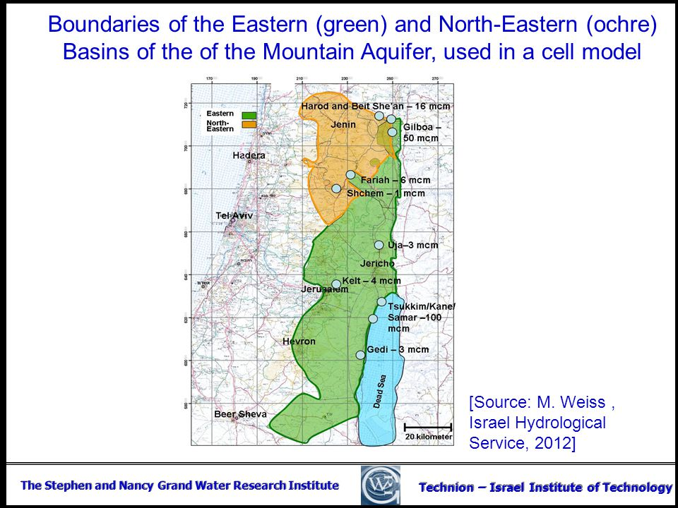 The Stephen and Nancy Grand Water Research Institute Technion – Israel Institute of Technology Boundaries of the Eastern (green) and North-Eastern (oc