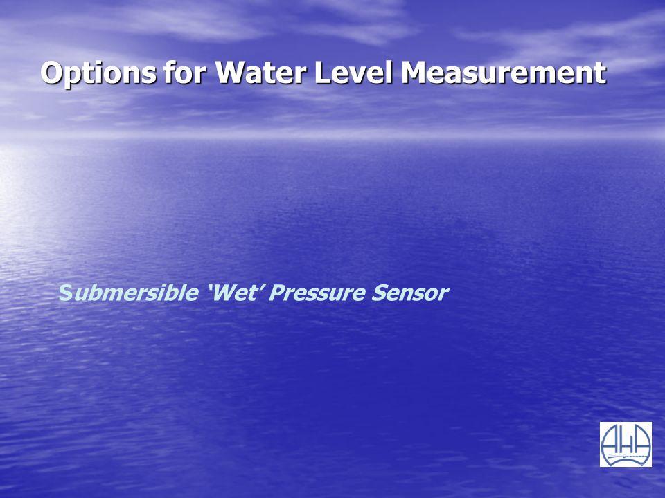 Options for Water Level Measurement Submersible Wet Pressure Sensor
