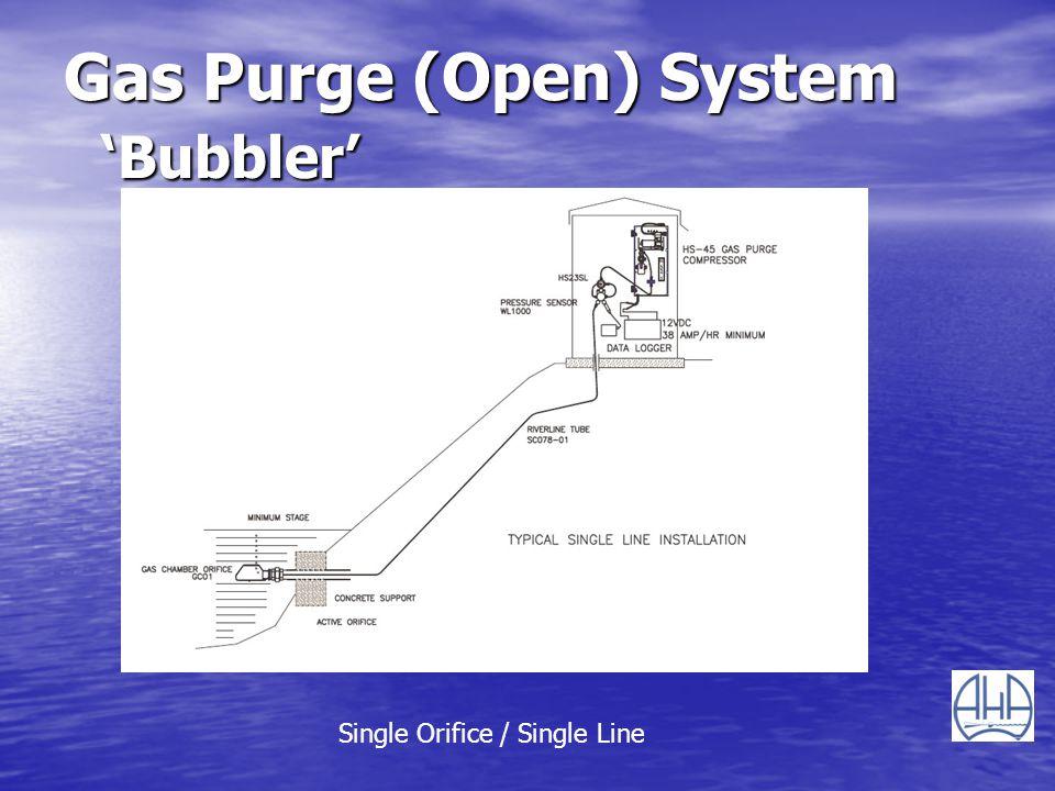 Gas Purge (Open) System Bubbler Single Orifice / Single Line