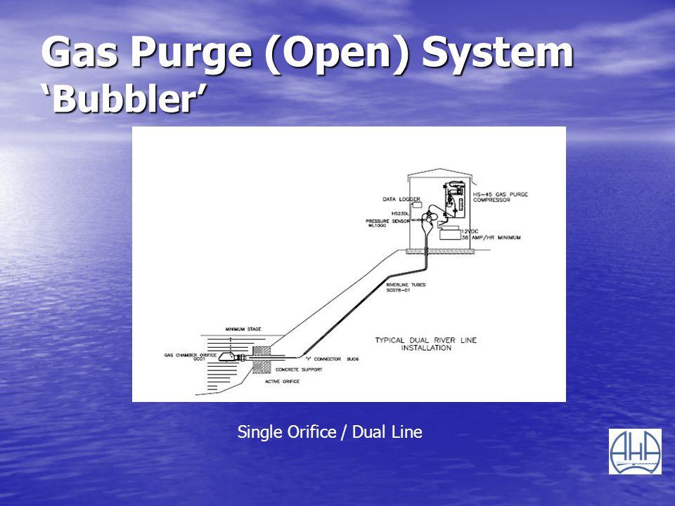Gas Purge (Open) System Bubbler Single Orifice / Dual Line