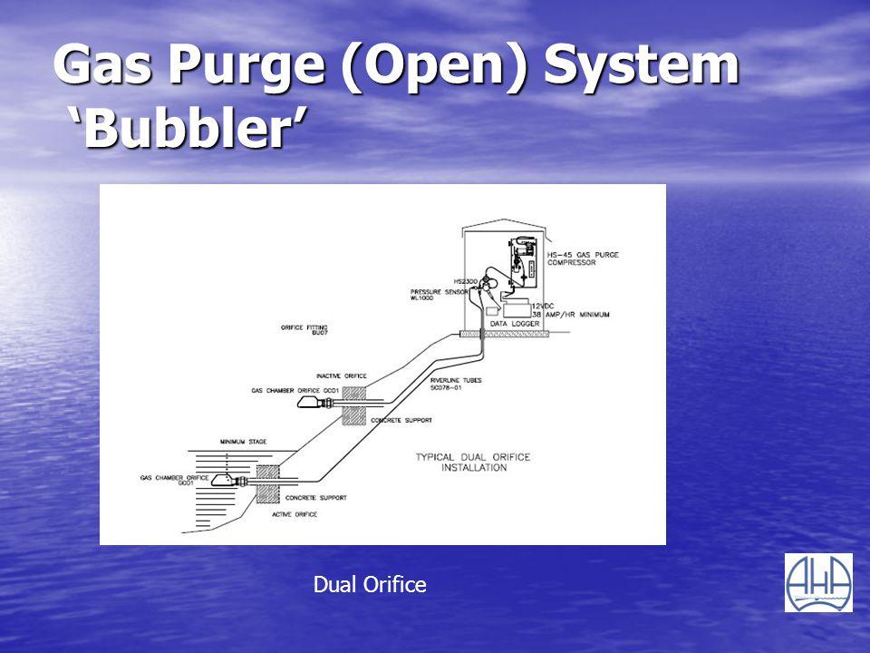 Gas Purge (Open) System Bubbler Dual Orifice