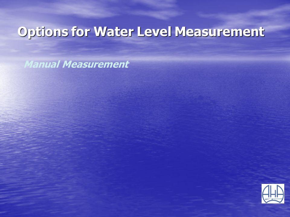 Options for Water Level Measurement Manual Measurement