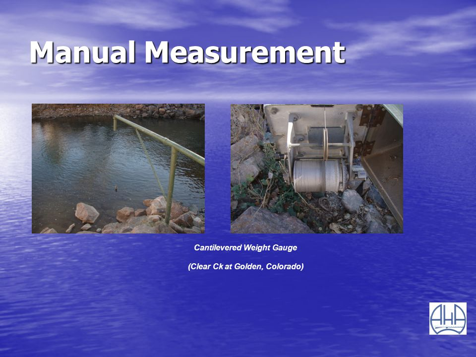 Manual Measurement Cantilevered Weight Gauge (Clear Ck at Golden, Colorado)