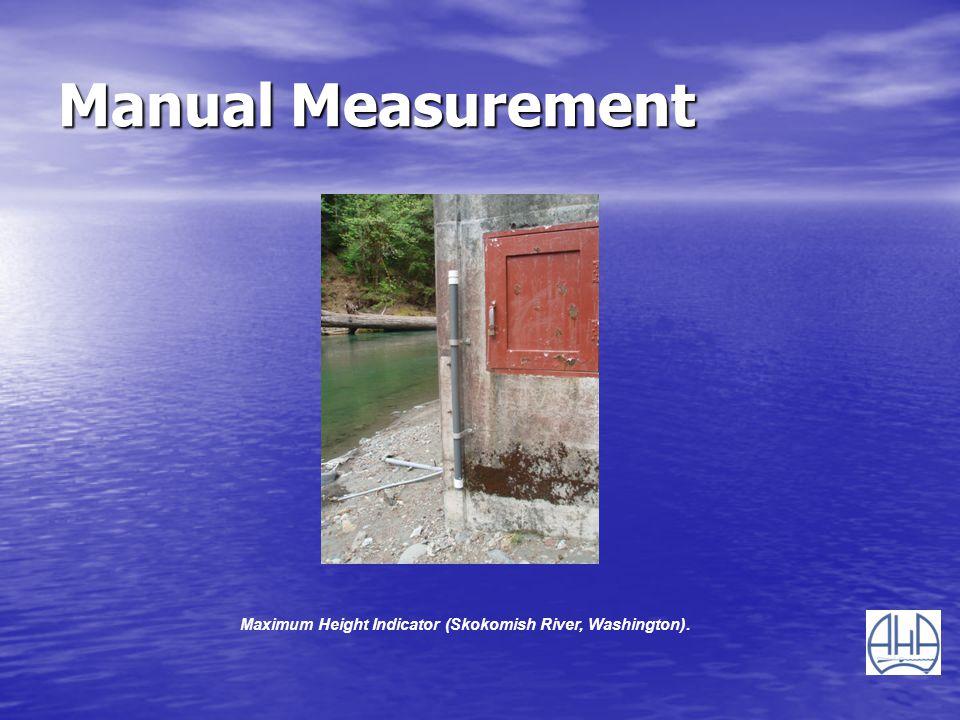 Manual Measurement Maximum Height Indicator (Skokomish River, Washington).