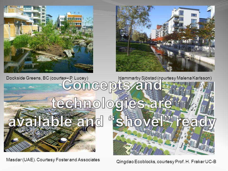 Dockside Greens, BC (courtesy P. Lucey)Hammarby Sjöstad (courtesy Malena Karlsson) Masdar (UAE).