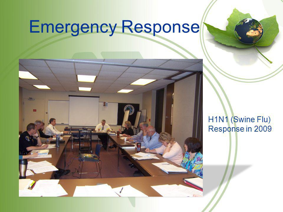 Emergency Response The Eau Claire City-County Health Department working with the local sheriffs department after the explosion at WRR in 2007.