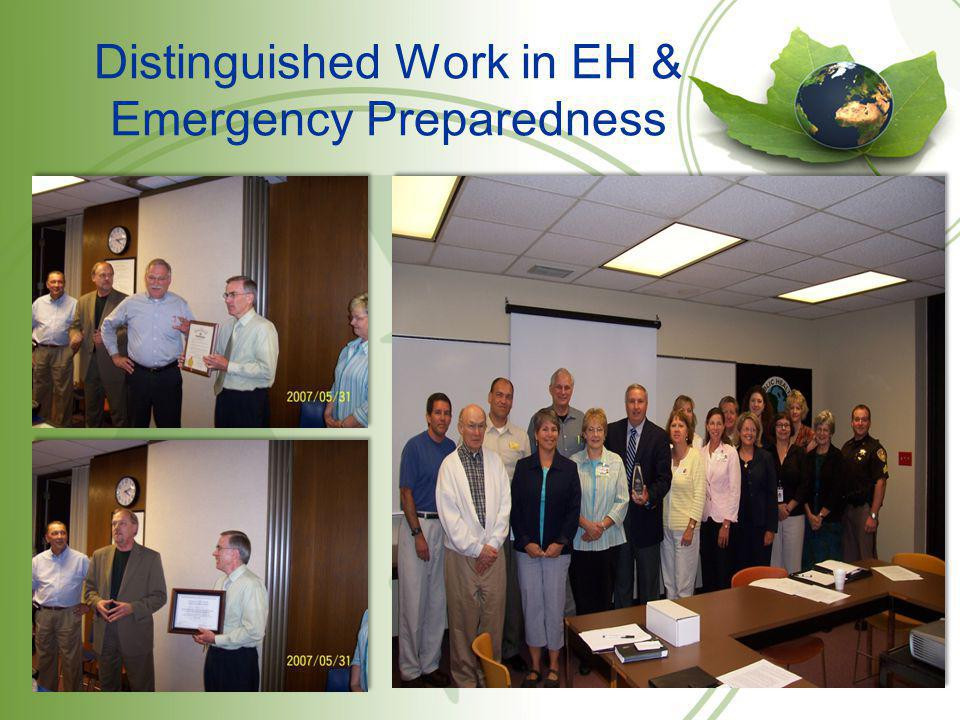 Distinguished Work in EH & Emergency Preparedness