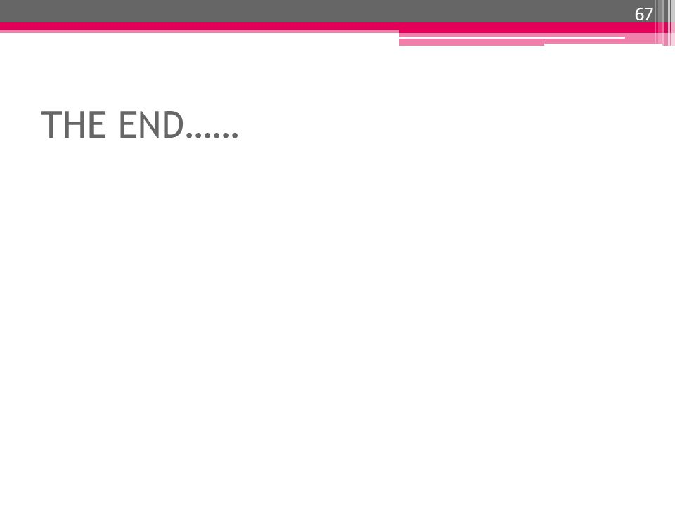 THE END…… 67