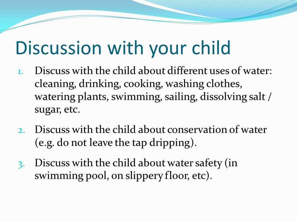 Discussion with your child 1.