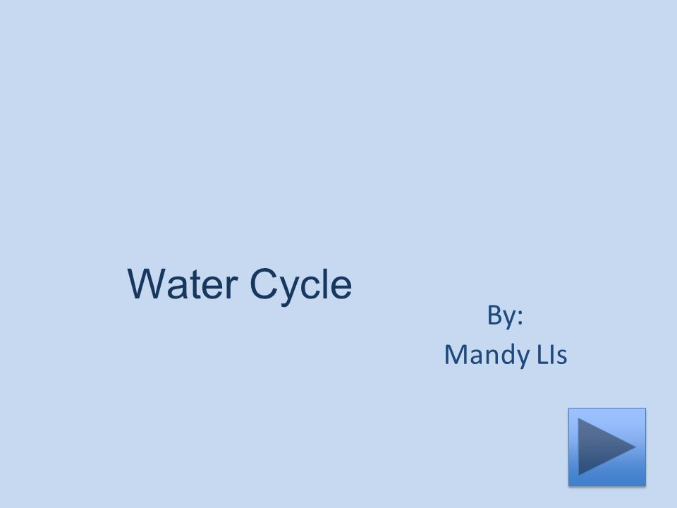 Water Cycle By: Mandy LIs