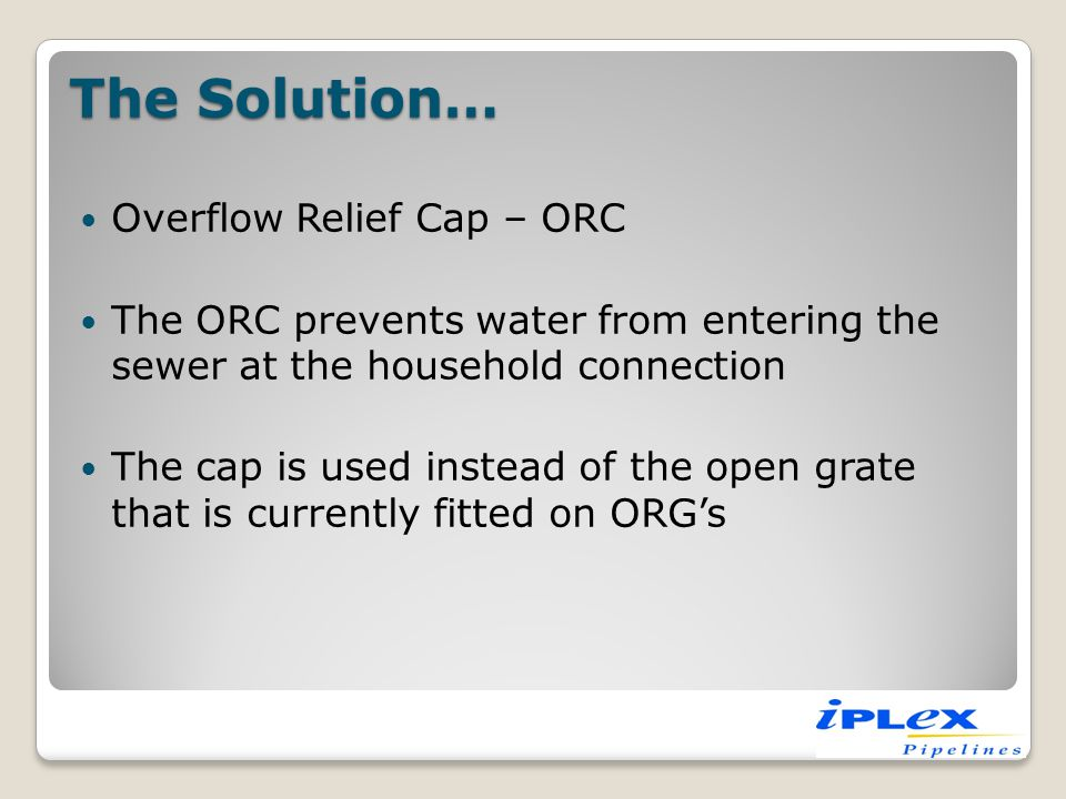Typical ORC device installation ORC device sealing against water ingress