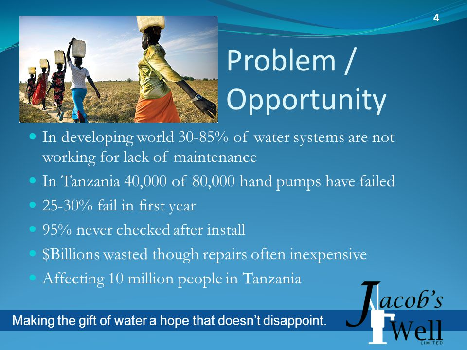 Making the gift of water a hope that doesnt disappoint.