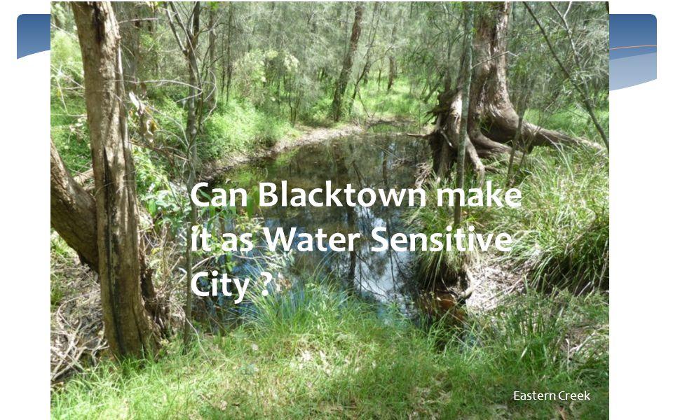 Eastern Creek Can Blacktown make it as Water Sensitive City ?