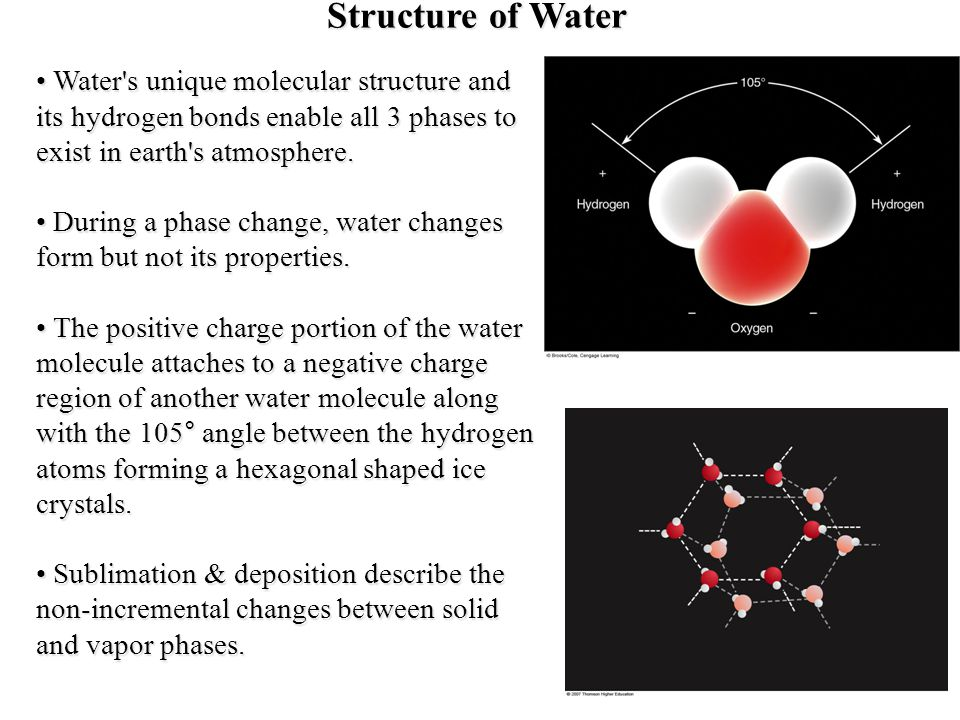 Water Phase and Molecular Speed The image above show how water molecules look in all three phases from a microscopic point of view.