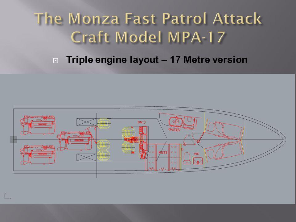 Triple engine layout – 17 Metre version