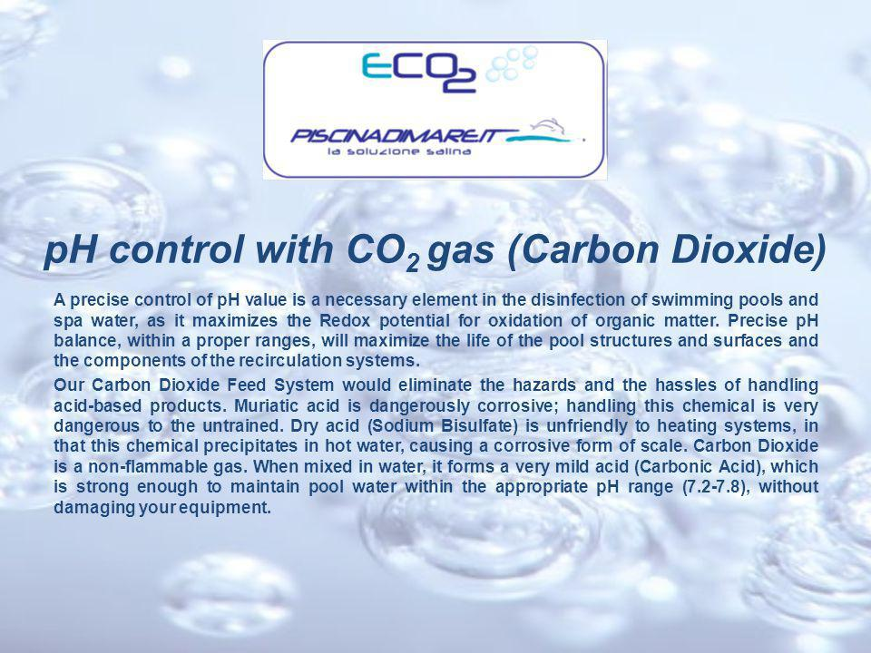Carbon Dioxide and Acid pH reducers Comparison Chart ECO2 (carbon dioxide) Solforic & chloridric Acid (pH- liquid & powder) Safe for both bathers.