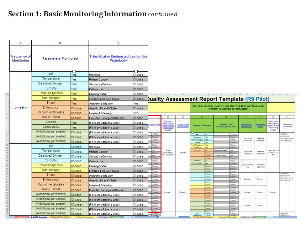 Section 1: Basic Monitoring Information continued 20