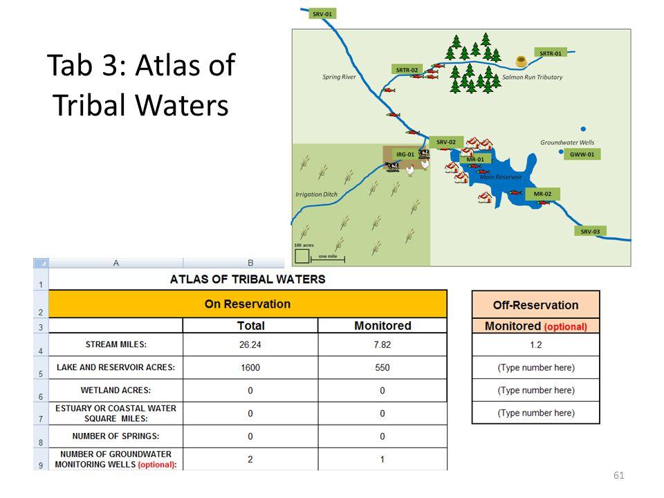 Tab 3: Atlas of Tribal Waters 61