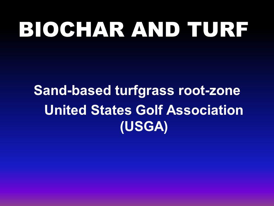 BIOCHAR AND TURF turf Sand-based turfgrass root-zone United States Golf Association (USGA)