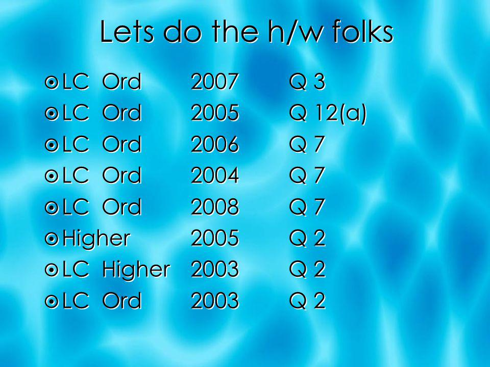 H/W LC Ord 2003 Q 2 LC Ord 2003 Q 2