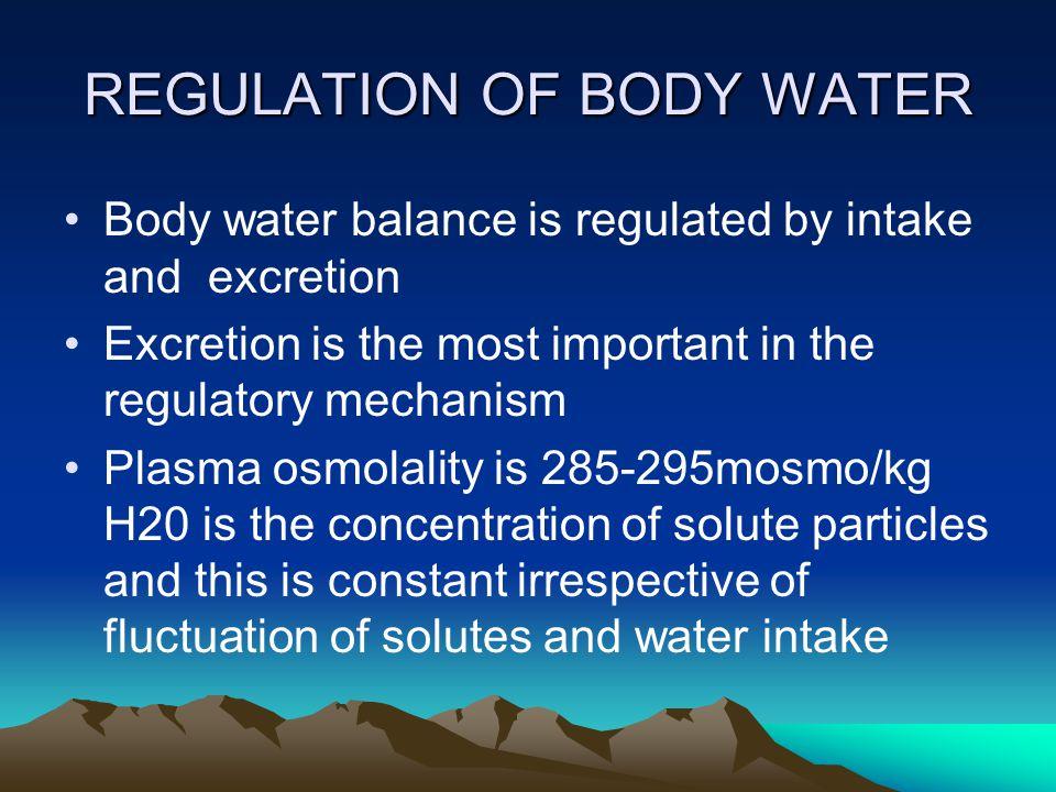 INTAKE REGULATION Thirst is a major defense against fluid depletion.