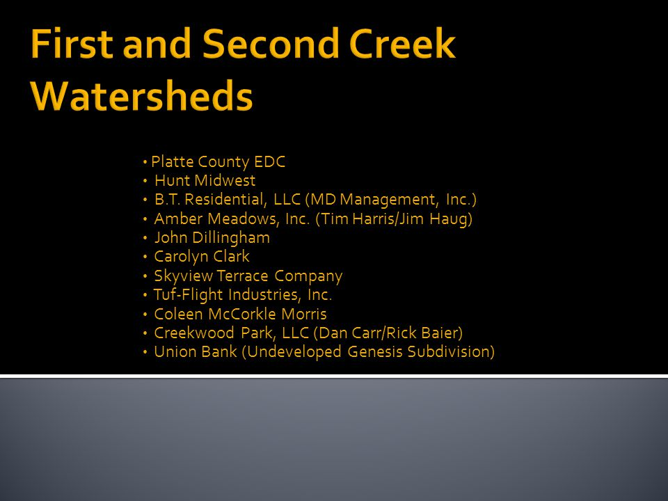 Platte County EDC Hunt Midwest B.T. Residential, LLC (MD Management, Inc.) Amber Meadows, Inc.