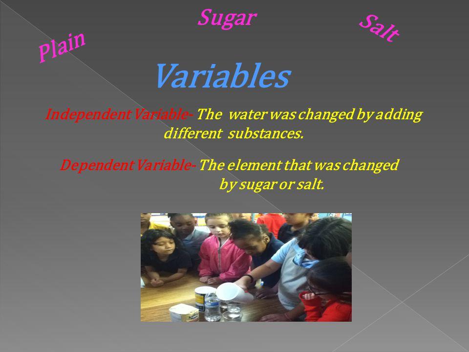 HYPOTHESIS The Vote Plain Salt Sugar 3 for plain water 4 for salt water 11 for sugar water 3 4 11