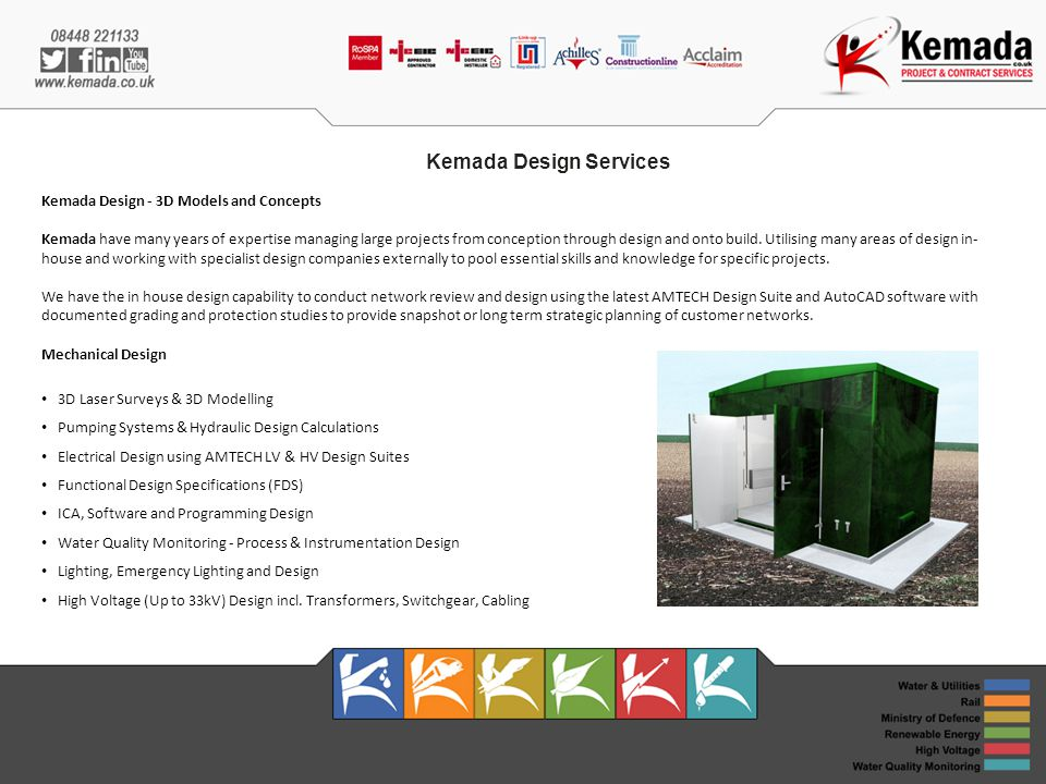 Kemada Design Services Kemada Design - 3D Models and Concepts Kemada have many years of expertise managing large projects from conception through design and onto build.