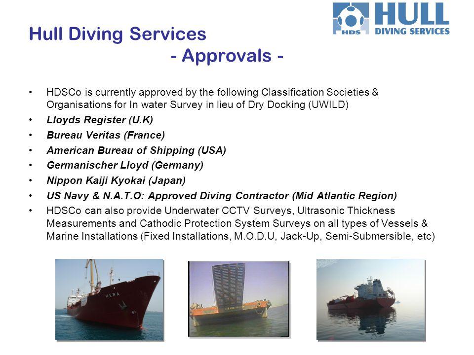 Civil Engineering Marine Services Hull Diving Services - Diving Services - Site Inspections.
